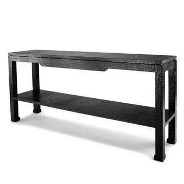 "Jonathan Adler Preston console table. Black croc stamped leather. 66""Wx15""Dx30""H $1950Coffe Tables, Shops Allmodern, Modern Furniture, Preston Consoles, Consoles Tables, Adler Preston, Contemporary Consoles, Jonathan Adler, Console Tables"