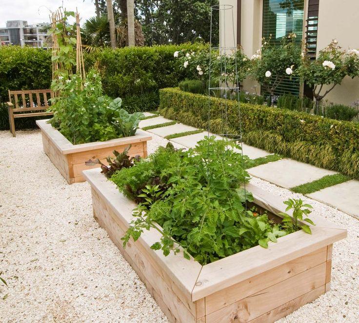 Two Raised Vegetable Garden Beds Garden Pinterest