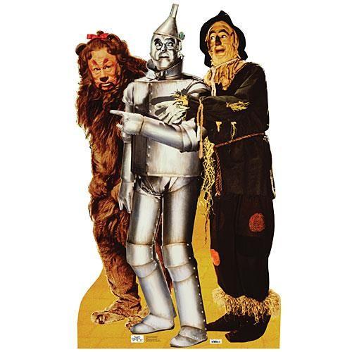 Wizard of Oz Lion, Tin Man & Scarecrow Life Size Standee