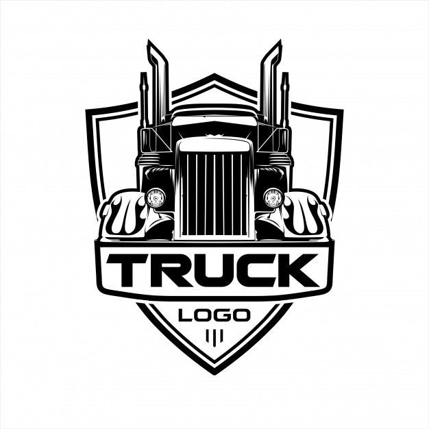 Logotipo De Caminhao De Transporte Mercedes Truck Trailer Logo Trucks