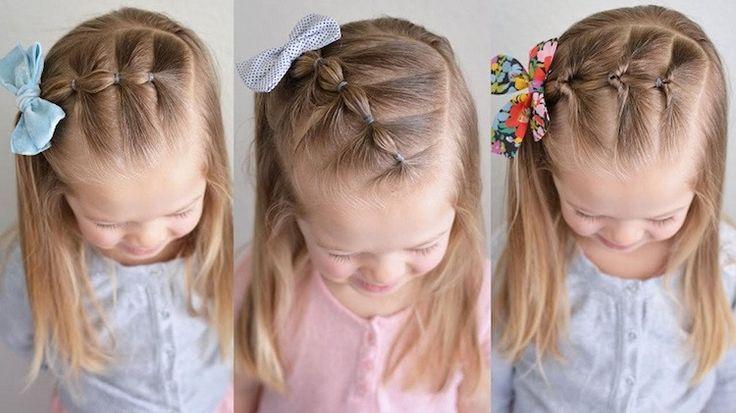 coiffure facile pour petite fille tresses boules elastiques #hair #girls