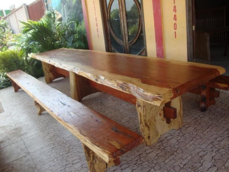 Mesa rustica de sapucaia log furniture pinterest mesas for Mesas madera rustica
