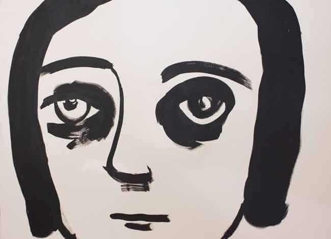 © Noah Taylor ~ Untitled ~ 2014 Ink on paper at Olsen Irwin Gallery Sydney Australia
