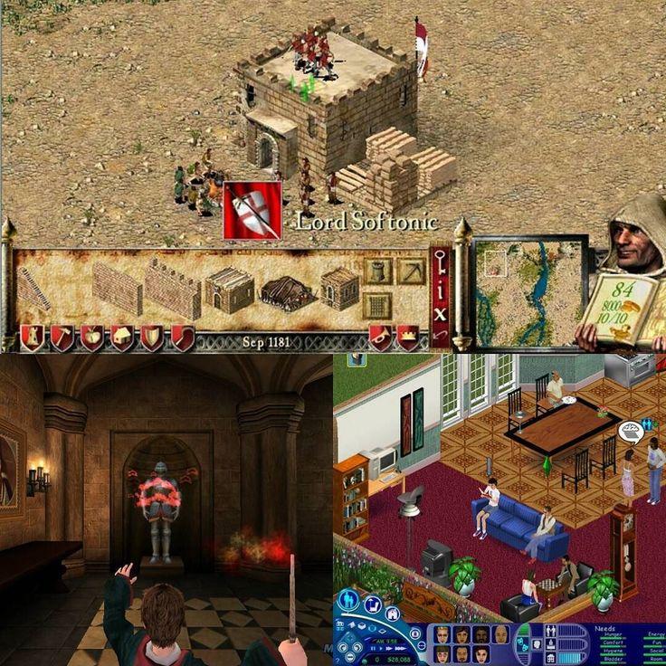 nostalgic childhood games _ #strongholdcrusader #sims #harrypotter