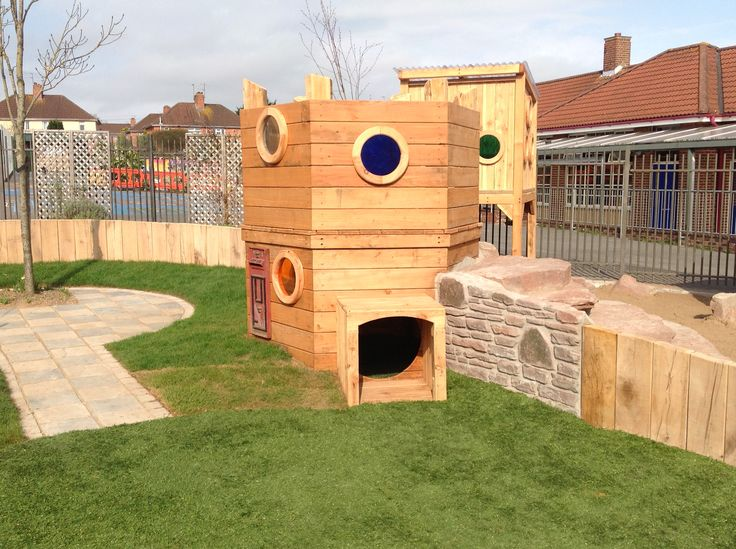 Textures and sunshine combine in our early years play space.