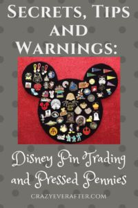 Disney World: Pin Trading, Pressed pennies. Pin trading and pressed pennies belong in their own souvenir category: scavenger hunting. Yeah, I just invented that. But it's true. They both have an added value in the hunt. Half the fun is in the hunt.