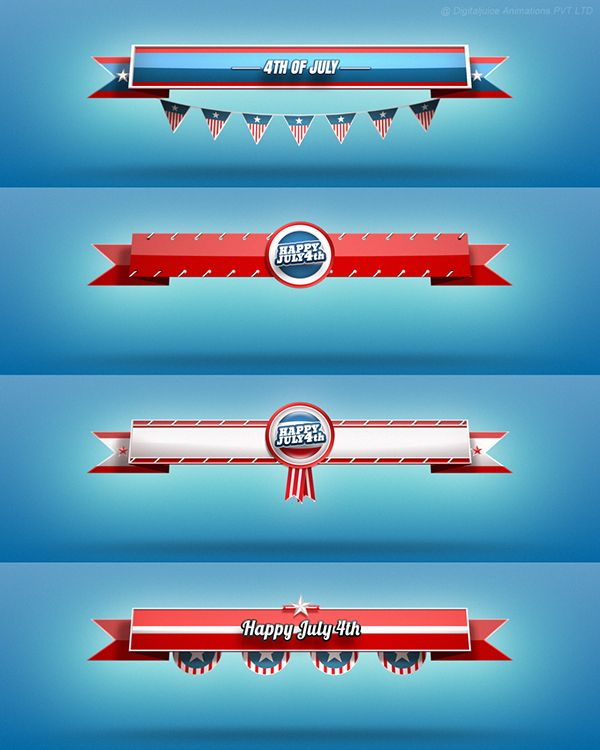 4th of July Lower thirds - Digitaljuice on Behance