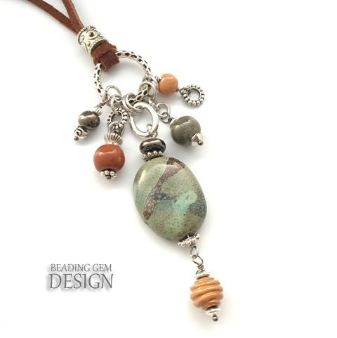Use a Tube Wringer for DIY Pattern Wire | Kazuri Sautoir Necklace Tutorial ~ The Beading Gem's Journal