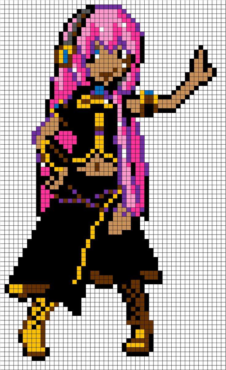 Megurine Luka pixel art template: I made this one myself ...