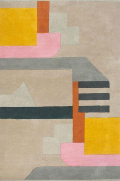 Astoria Teppich 170 X 240 Cm Pink Und Gelb