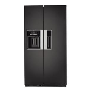 WHIRLPOOL - WSN5586A+N _ Réfrigérateur Américain - Réfrigérateur No-Frost : 325 L - Colonne MultiFlow - Filtre anti-bactérien - Clayettes verre - Compartiment Crèmerie. Congélateur No-Frost : 180 L - IceBox - Clayettes verre - 2 tiroirs - Distributeur Soft touch électronique 3 fonctions (eau - glaçons - glace pilée) avec éclairage