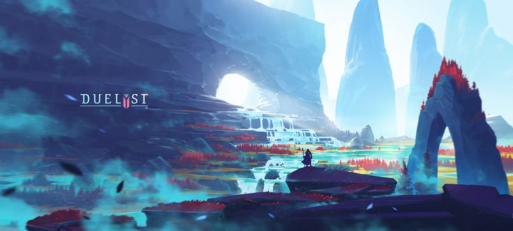 Duelyst: Backgrounds on Behance