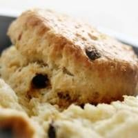Make chocolate chip scones with this recipe; just replace the currants with chocolate chips!  Absolutely delicious!