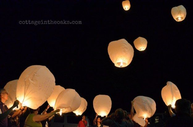 And send off the graduate with lanterns with well wishes written on them.