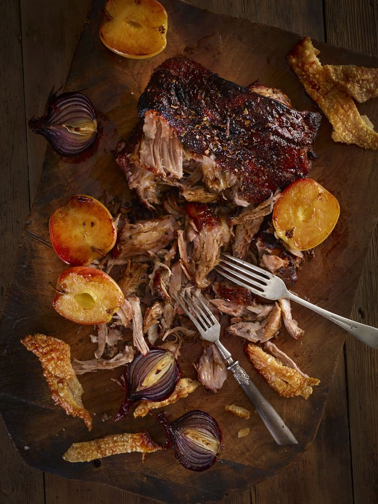 Pulled Pork with Caramelised Apples and Sage