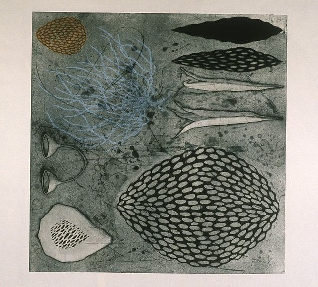 "Tanja Softik, ""Night Swimming II"", etching, 1999 