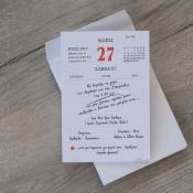 Προσκλητήριο γάμου και βάπτισης μαζί typostar κωδ. 7290