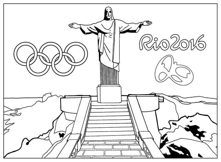 Free Coloring Page Coloring-adult-rio-2016-olympic-games
