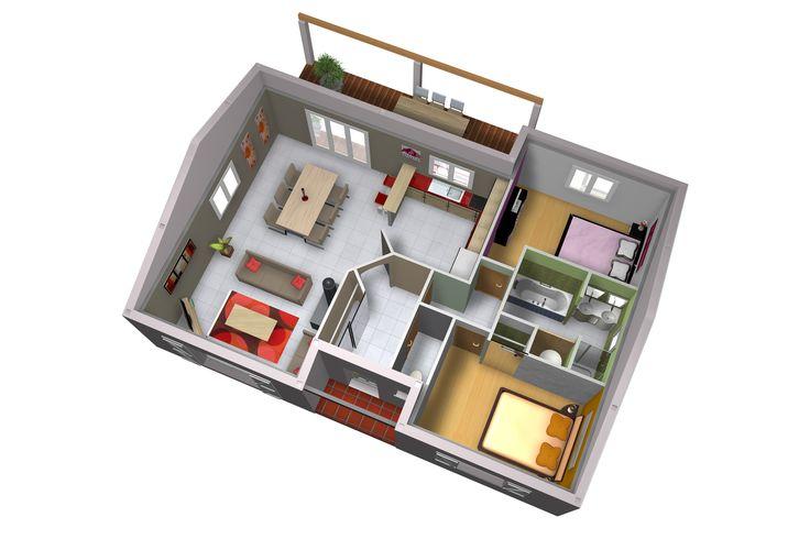High Quality Plan De Maison Origan   75m2 ForumConstruire.com