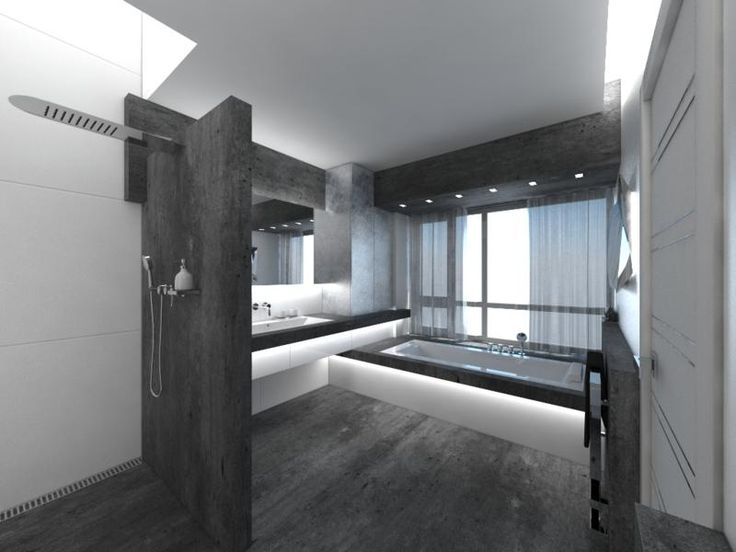 White And Black Bathroom Design With Black Floor And Tile And White Black  Bathtub Ideas. Find This Pin And More On Bathroom Ideas Small Bathrooms  Decorating ...