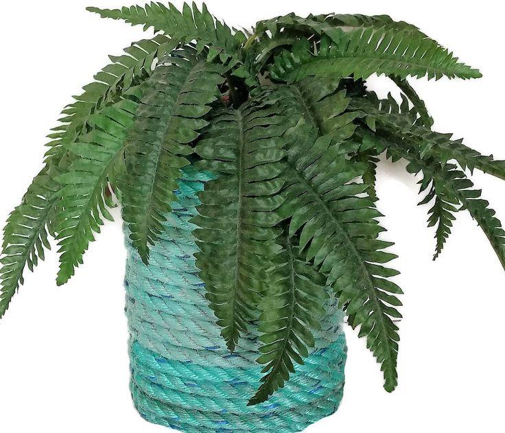 Nautical Decor Reclaimed Lobster Trap Rope Dried Flower Vase  Utensil Holder Unique Gift