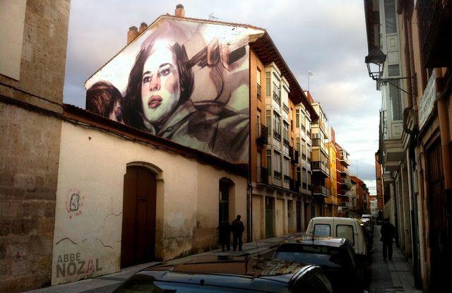 Cada día una foto de Palencia, realizada por ABBÉ NOZAL: Una medianera para el 813-Truffaut de Paula Bonet