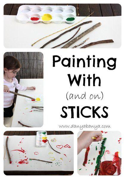 Toddler friendly art idea - using nature as art materials.