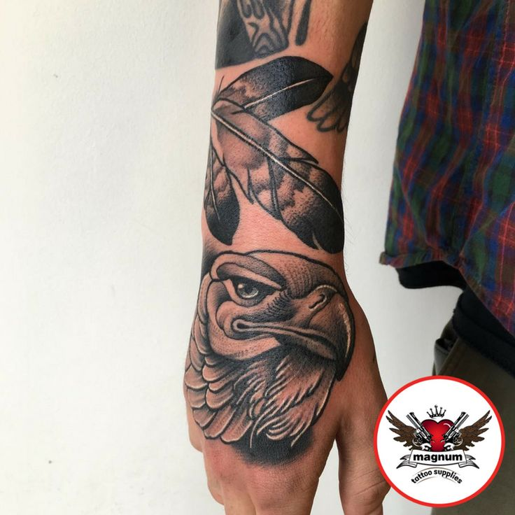Eagle & feathers tattoo done from Niall Shannon,   with #magnumtattoosupplies  #truegenttattoosupplies #blackart ##btattooing #tattooworkers #blackworkerssubmission #blackworkers #taot #eagle