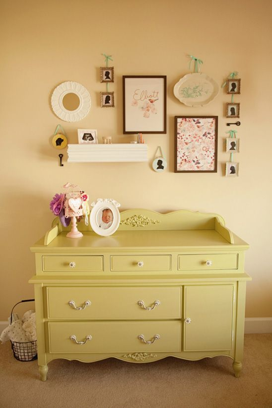 photo collage diy and love dresser color!!!