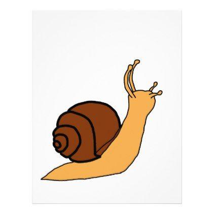 Snail Cartoon Letterhead - ocean side nature waves freedom design