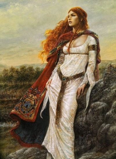 The Winds of Hastings by Morgan Lewellyn , cover art by Luis Royo - Edyth, wife of King Harold of England, disappeared forever on the day of the  Battle of Hastings in 1066, taking with her the heirs to the thrones of England and Wales.  http://www.amazon.com/Hastings-Celtic-Morgan-Llywelyn-ebook/dp/B004OA64NE/ref=tmm_kin_swatch_0?_encoding=UTF8==