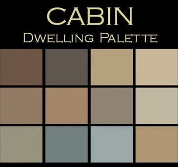 Color In Space Cabin Palette Each Palette Consists Of