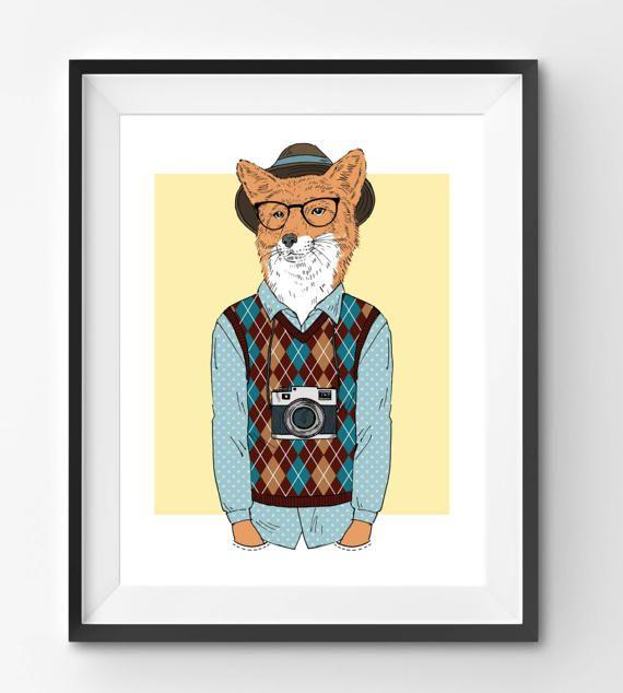 Male Fox Photographer Animal Print Fashion Animal Fox
