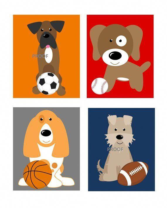 Dog Nursery Art Prints Dogs Nursery Decor Dogs Wall Art Dog Etsy Dog Nursery Dog Nursery Decor Dog Nursery Art