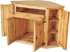 Santa Fe Wood Corner TV Stand