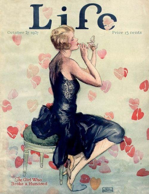 Illustration by John LaGatta, Life Magazine, 1927 ~ETS #artdeco #lifemagazine