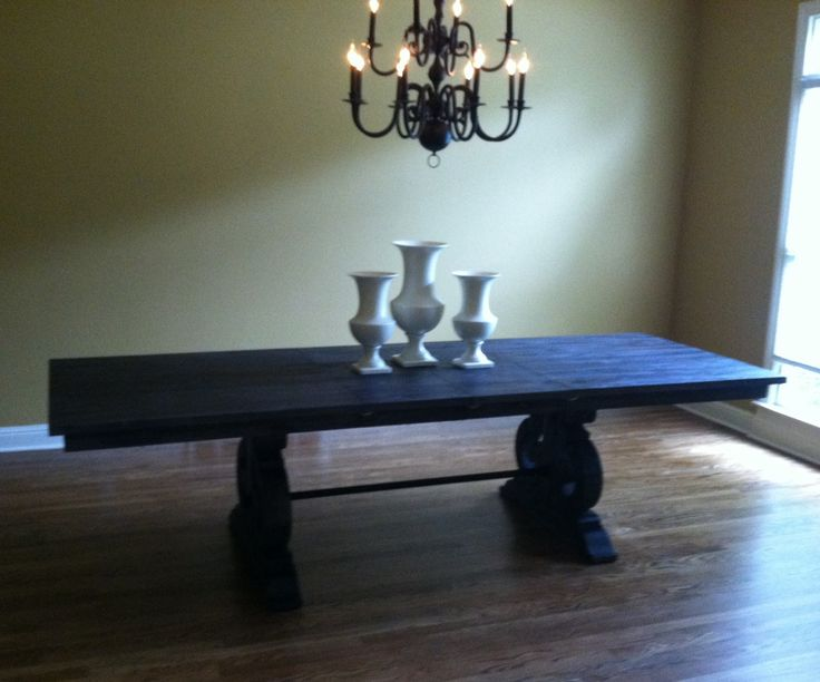 Bellamy Dining Table With White Vases~xoxo, Stash