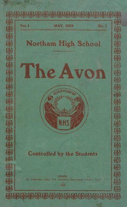 The Avon, 1925.  Northam High School.  http://encore.slwa.wa.gov.au/iii/encore/record/C__Rb1142341__Sschool%20magazines__P0%2C4__Orightresult__U__X3?lang=eng&suite=def