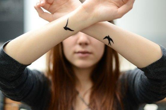 : Tattoo Ideas, Wrist Tattoo, Tattoo Birds, Birds Tattoo, Small Tattoo, Tattoo Patterns, Tattoo Design, A Tattoo, Arm Tattoo