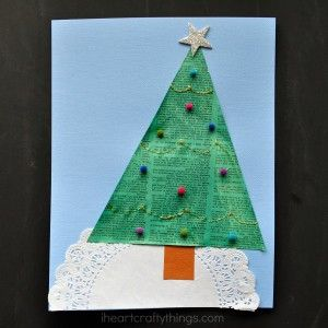Recycled Newspaper Christmas Tree Craft