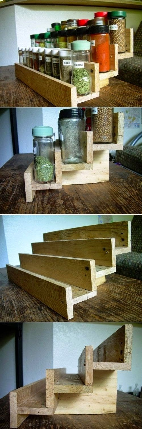17 best ideas about pallet spice rack on pinterest spice for How to make a spice rack out of pallets