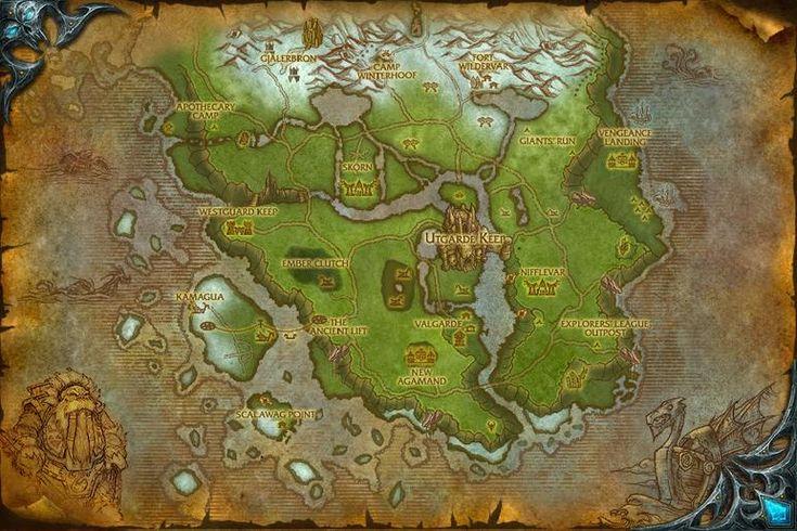 Afbeeldingsresultaat voor WoW maps