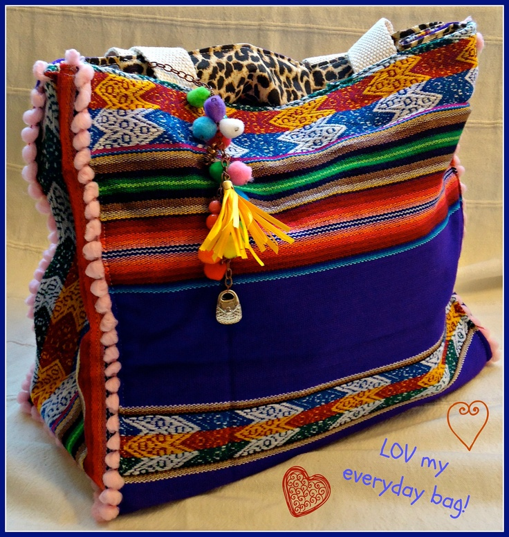 Mexican Blanket Aguayo Reversible Bag.