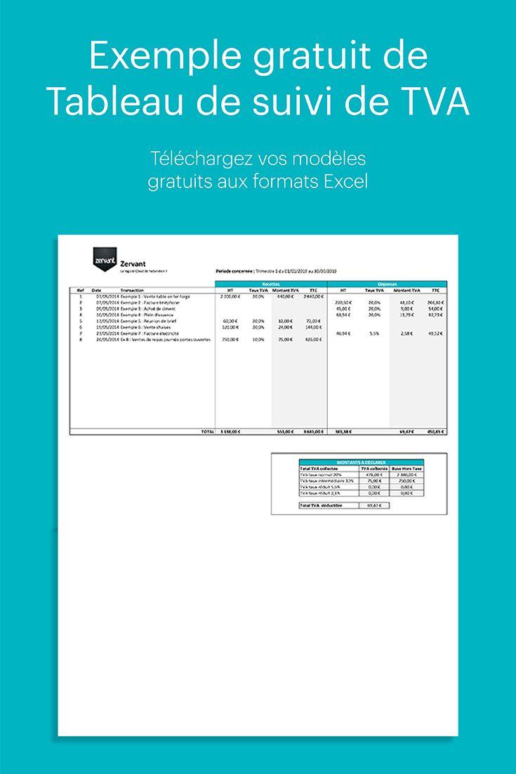 Exemple Gratuit De Tableau De Suivi De Tva Sur Excel Suivi Modele Facture Programme Sportif Minceur