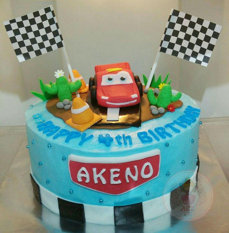 Simple cars cake