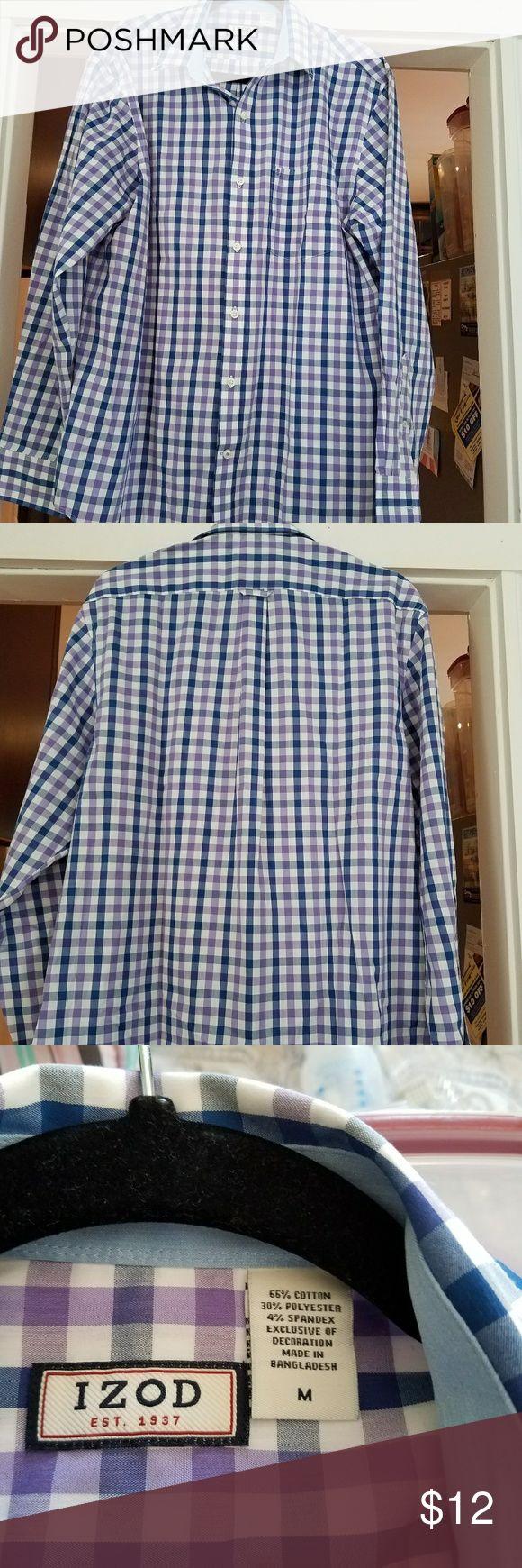 Izod multi colored checkered dress shirt Mens dress shirt is NWOT and multi colored checkered. Shirts Dress Shirts