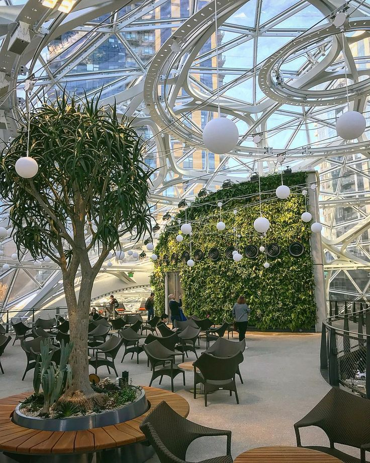 """Modern Home Interiors: Dome Greenhouse """"Spheres"""" Bring Green Space To Amazon"""