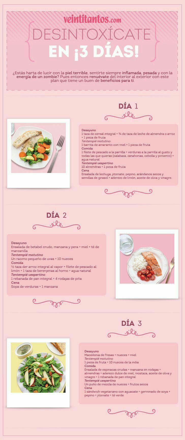 Dieta D 3 Dias Para Desintoxicar El Cuerpo Workout Food Natural Detox Dieta Detox