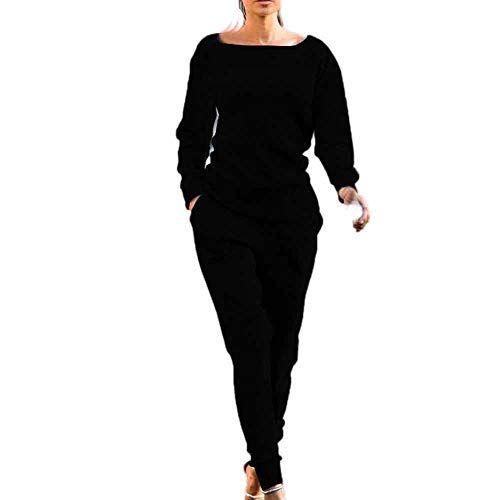 ZEZKT Sportswear Femme - Femme Ensemble Vêtements de Sport Sweat-Shirt  Pantalon Jogging Survêtement 2pcs Sportwear Tricot Tenue de Sport Gym Yoga  Fitness ... 792e2bd2722