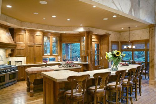 Large Kitchen Island Designs And Plans: This Award-winning Craftsman House Plan From The House